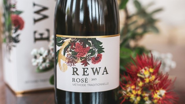 A bottle of Rewa Rosé wine