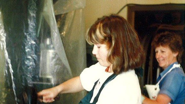Lisa Soljian bottling wine