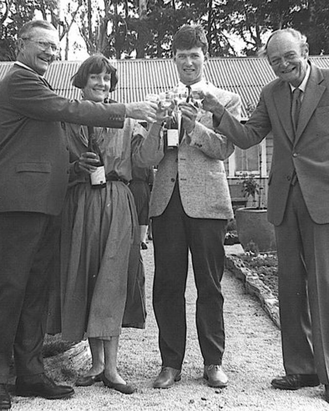 James and Annie Millton with wine