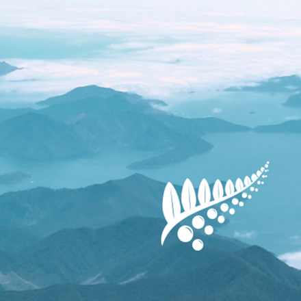Picture of Marlborough Sounds with text over top