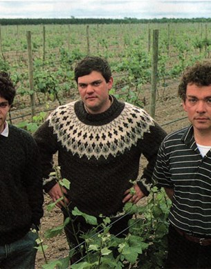 The young giesen brothers at their vineyard