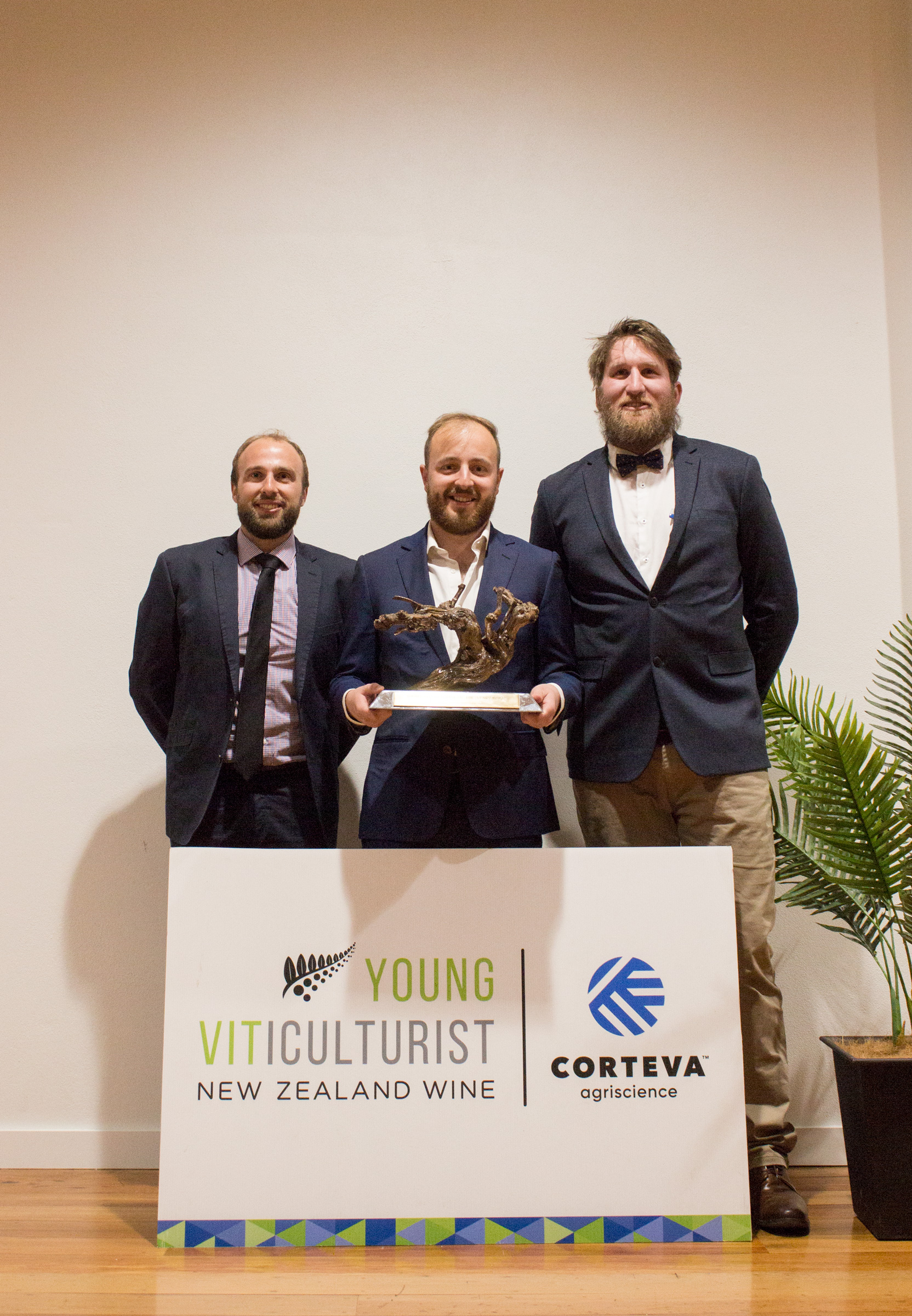 The Young Vit 2020 Winners - Rhys Hall (1st place), Sam Bain (2nd) , and George Bunnett (3rd)