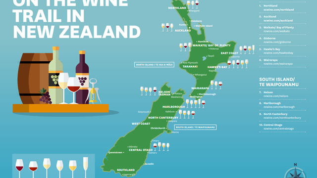 ON THE WINE TRAIL IN NEW ZEALAND