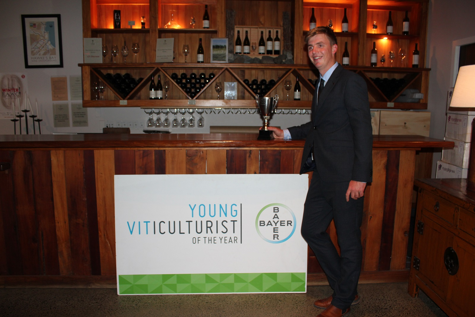Anton Luiten, Young Viticulturist of the year.