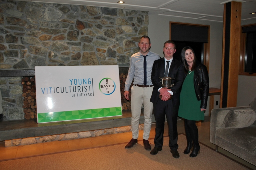 Matt Gallop, Anthony Walsh and Shannon Horner, Young Viticulturist of the year