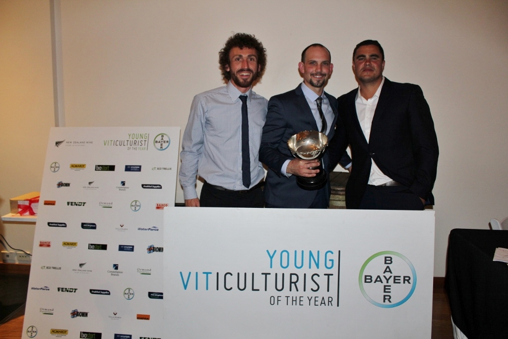 Nick Pett, Tim Adams and Jake Dromgool, Young Viticulturist of the year.
