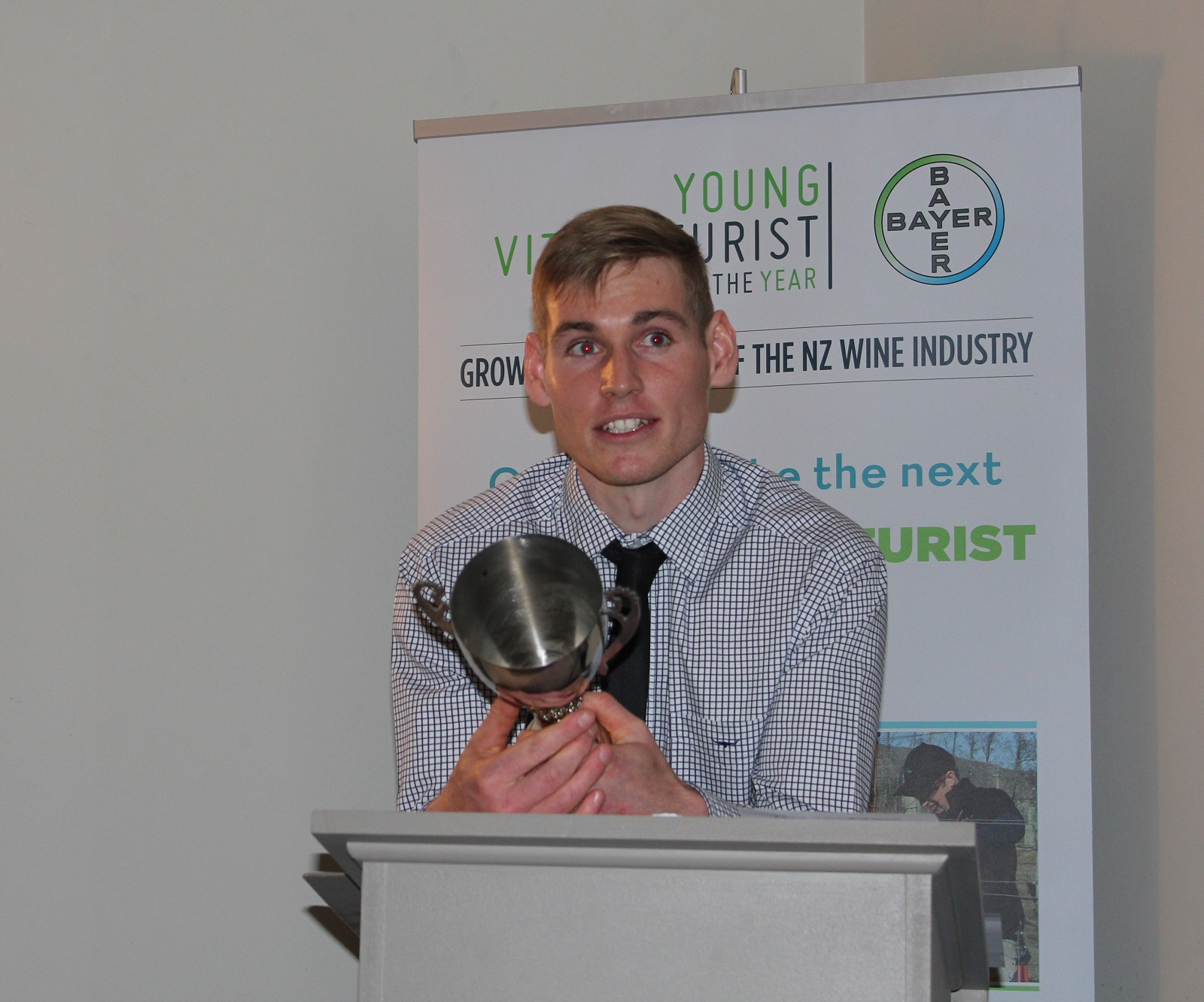 Ben McNab-Jones, Young Viticulturist of the Year.