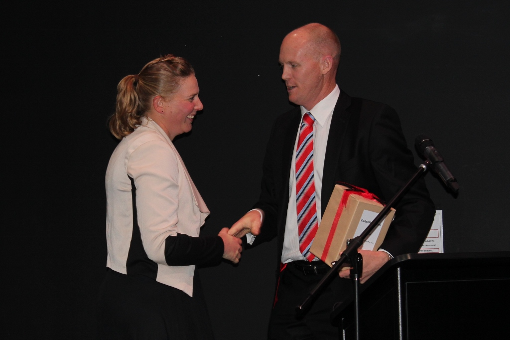 Annabel Bulk and Scott Hanson, Young Viticulturist of the Year