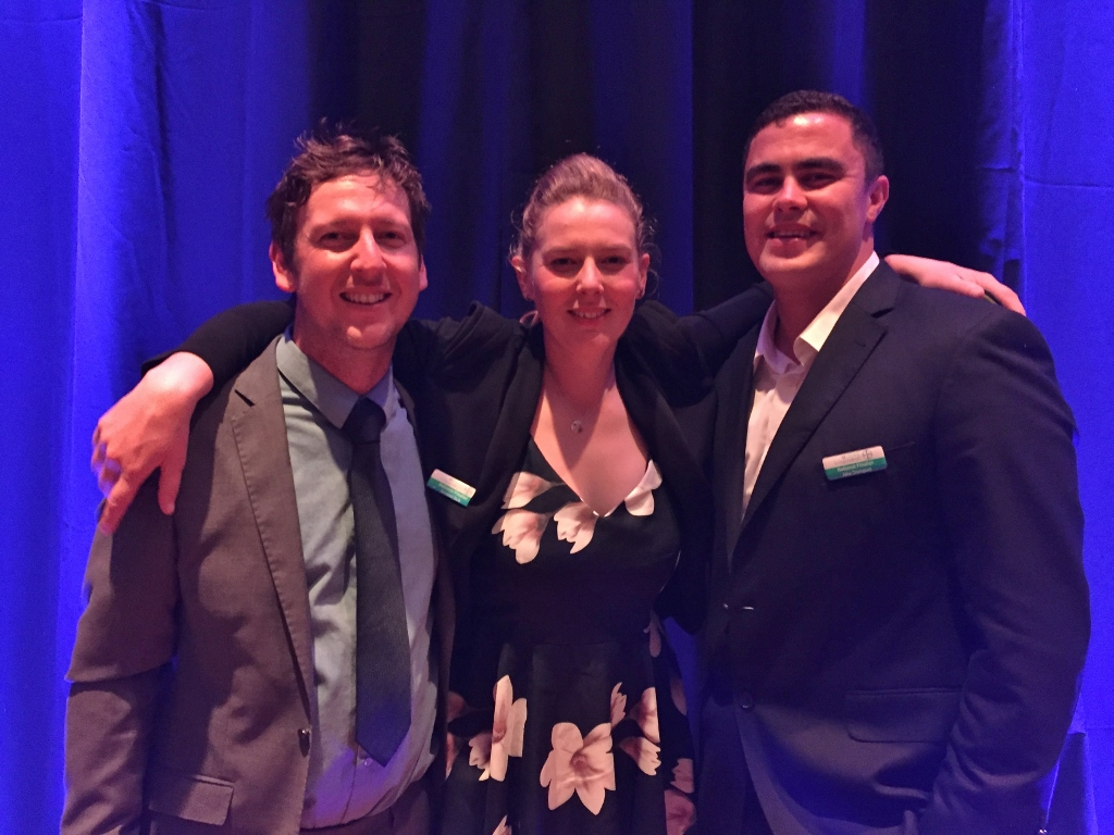 Annabel with Scott Lanceley (second place) & Jake Dromgool (third place)